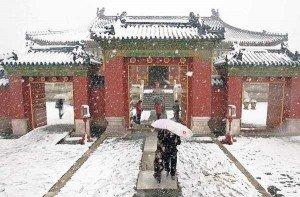 nieve provocada sobre china