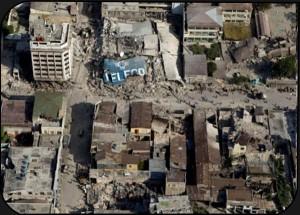 Foto satelite de Haití,después de la catastrofe