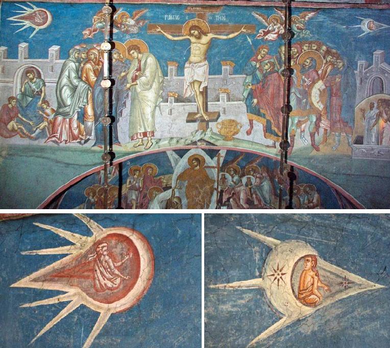 La Crucifixión, siglo XIV (Wikimedia)