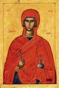 María Magdalena en un icono de la Iglesia ortodoxa.
