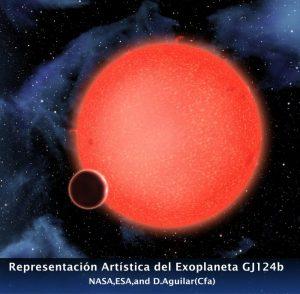 El telescopio Hubble descubre un nuevo tipo de exoplaneta, GJ 1214b el planeta acuático 1