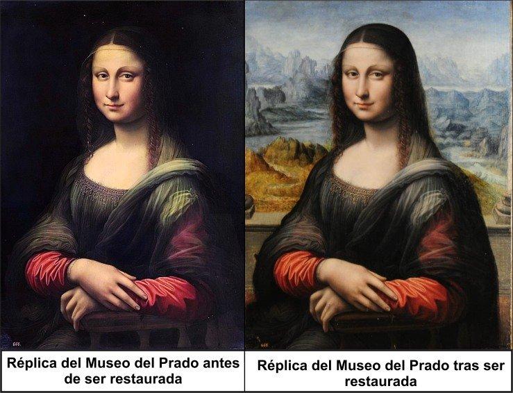 La Gioconda madrileña antes y después de su última restauración