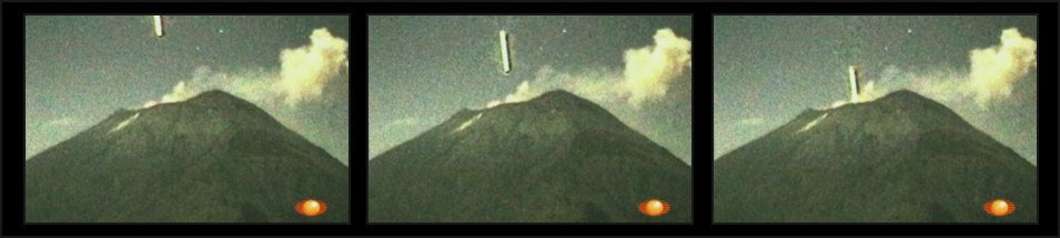 fotogramas Ovni en el volcán Popocatépetl