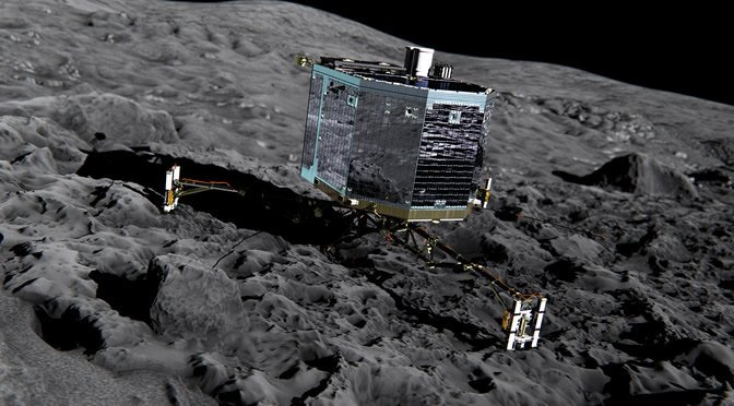 Philae y cometa 67p