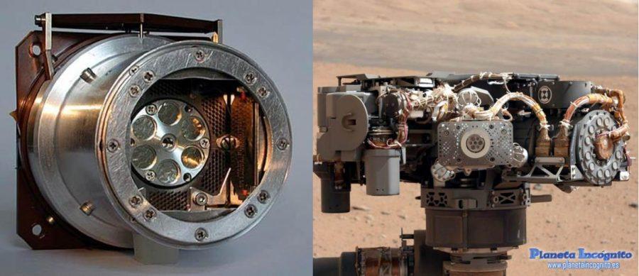 Detalle del Espectrómetro de Partículas Alfa y Rayos X