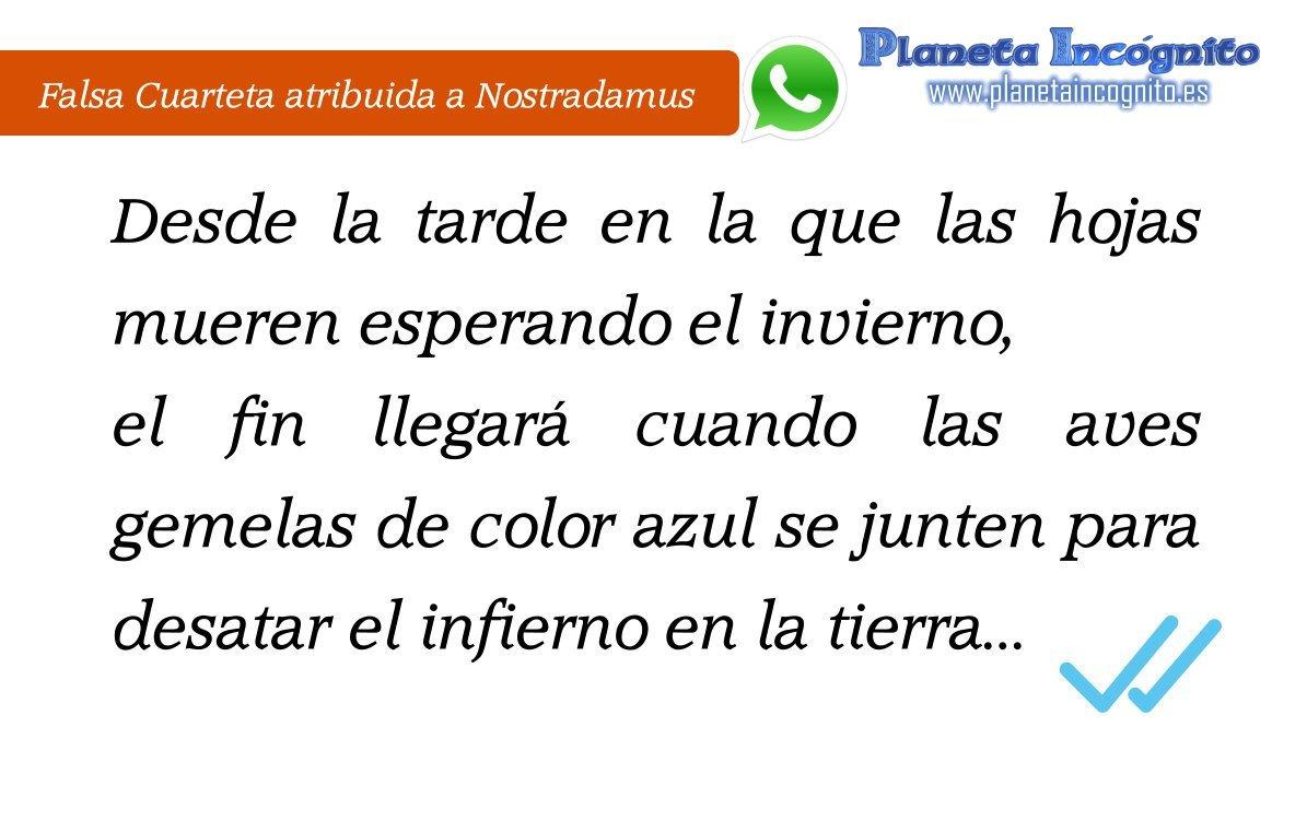 Nostradamus no predijo el doble check de Whatsapp