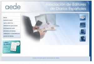 Captura de la Web de la Aede