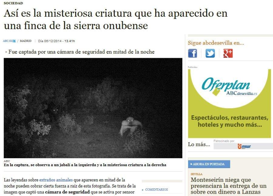 La noticia en el diario ABC Sevilla