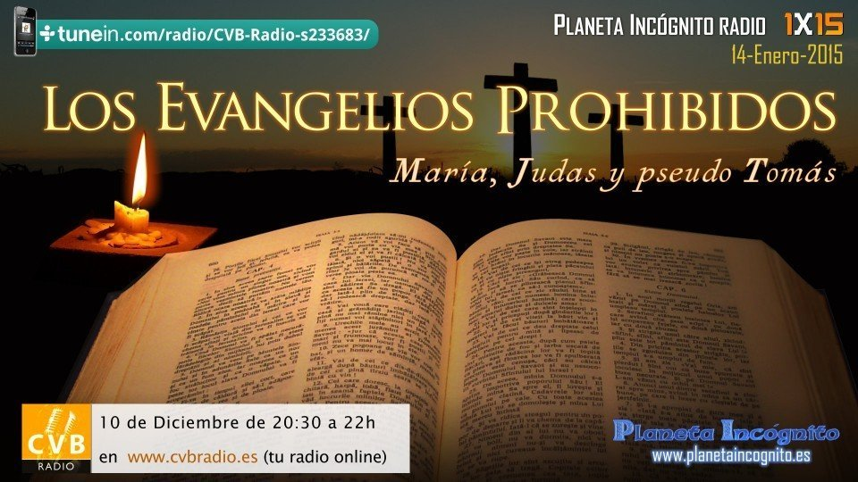 Programa 1x15  Los Evangelios Prohibidos: María, Judas y Pseudo Tomás 1