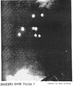 Los nueve objetos avistados en Tulsa (Oklahoma) el 12 de Julio de 1947.