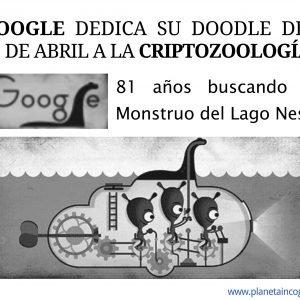 Google dedica su Doodle del 21 de Abril a Nessie y la Criptozoología