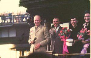 Diapositiva del General Eisenhower del pack de KodakChrome del matrimonio Ray