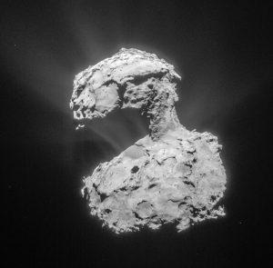 Vista del cometa 67P desde la Sonda Rosetta a día 14 de Marzo de 2015