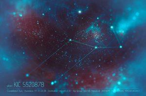 Creditos: Olena Shmahalo/Quanta Magazine / KIC 5520878, a una estrella pulsante en la constelación de Lyra gener un patrón fractal, único que apunta a procesos estelares desconocidos