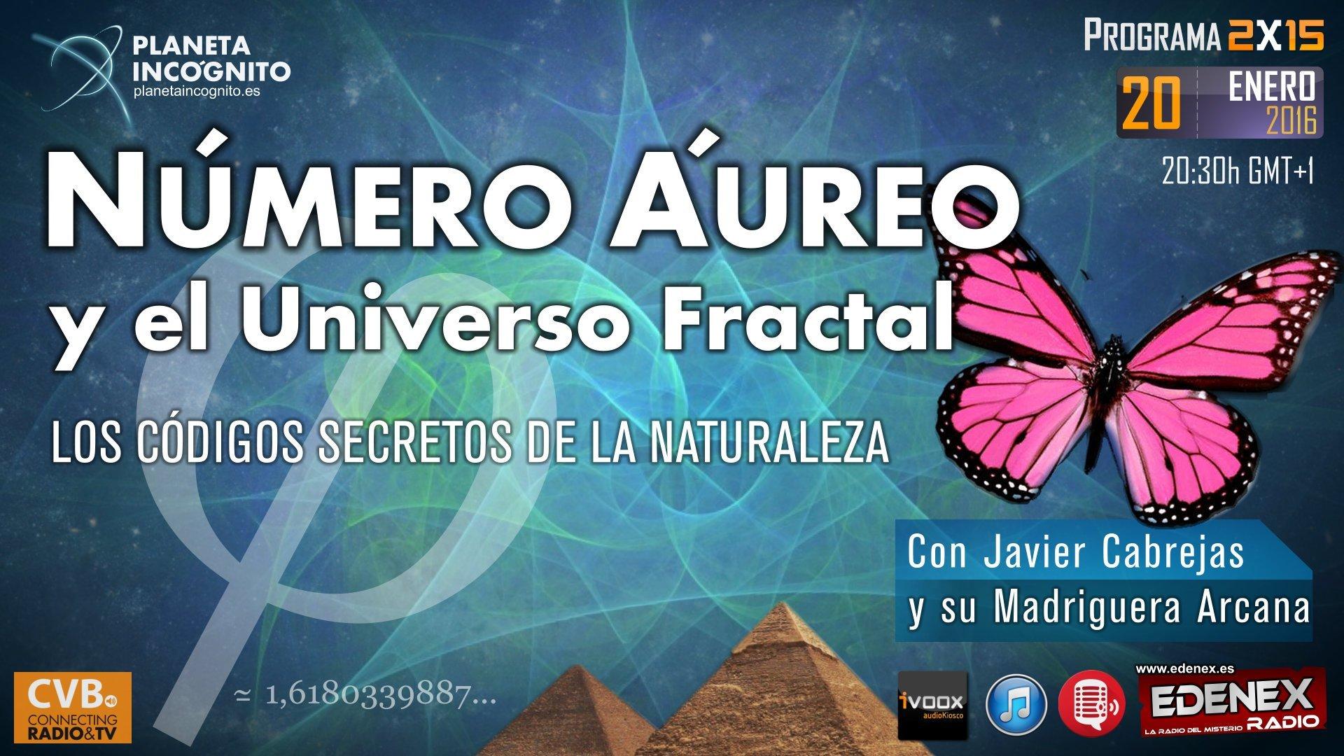 Programa 2x15: NÚMERO ÁUREO y el Universo Fractal: Los Códigos Secretos de la Naturaleza 6