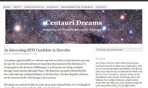 Imagen del Blog Century Dreams. Paul Glister escribió una novela con el mismo nombre en 2004 en la que hablaba de la posibilidad de viajes interestelares.