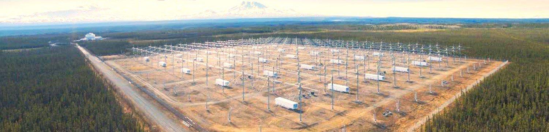 Imagen de la estación HAARP en Alaska
