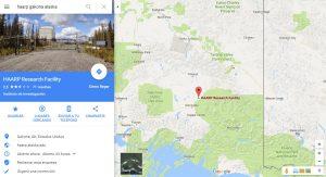 Localización de las instalaciones de HAARP en Alaska