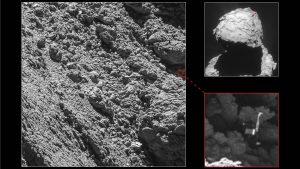 Imágenes del hallazgo resaltadas. Fuente ESA