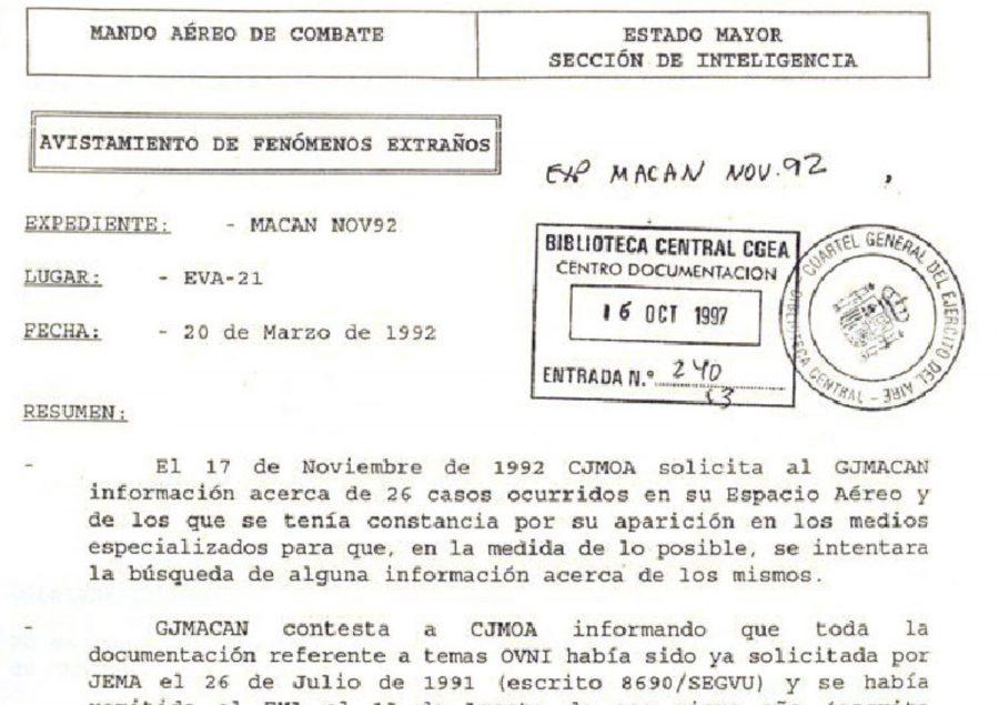 Recorte del Caso EVA-21. Informe Descargable desde informesovni.net