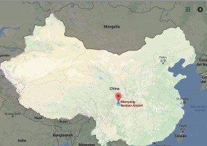 Situación de la ciudad de Mianyang en el mapa de China.