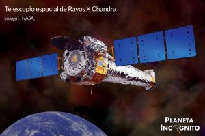 Representación del telescopio espacial de Rayos X Chandra. Imagen NASA