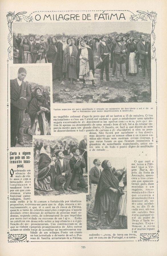 100 años de las Apariciones de Fátima. Uno de los mayores negocios del último siglo 2