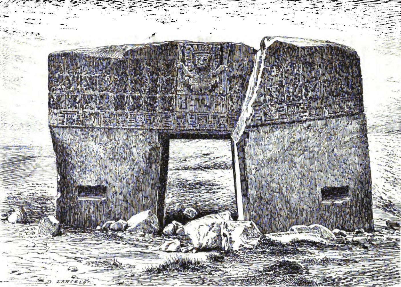 Puerta Del Sol Tiahuanaco Fachada Este 1877, Planeta Incógnito