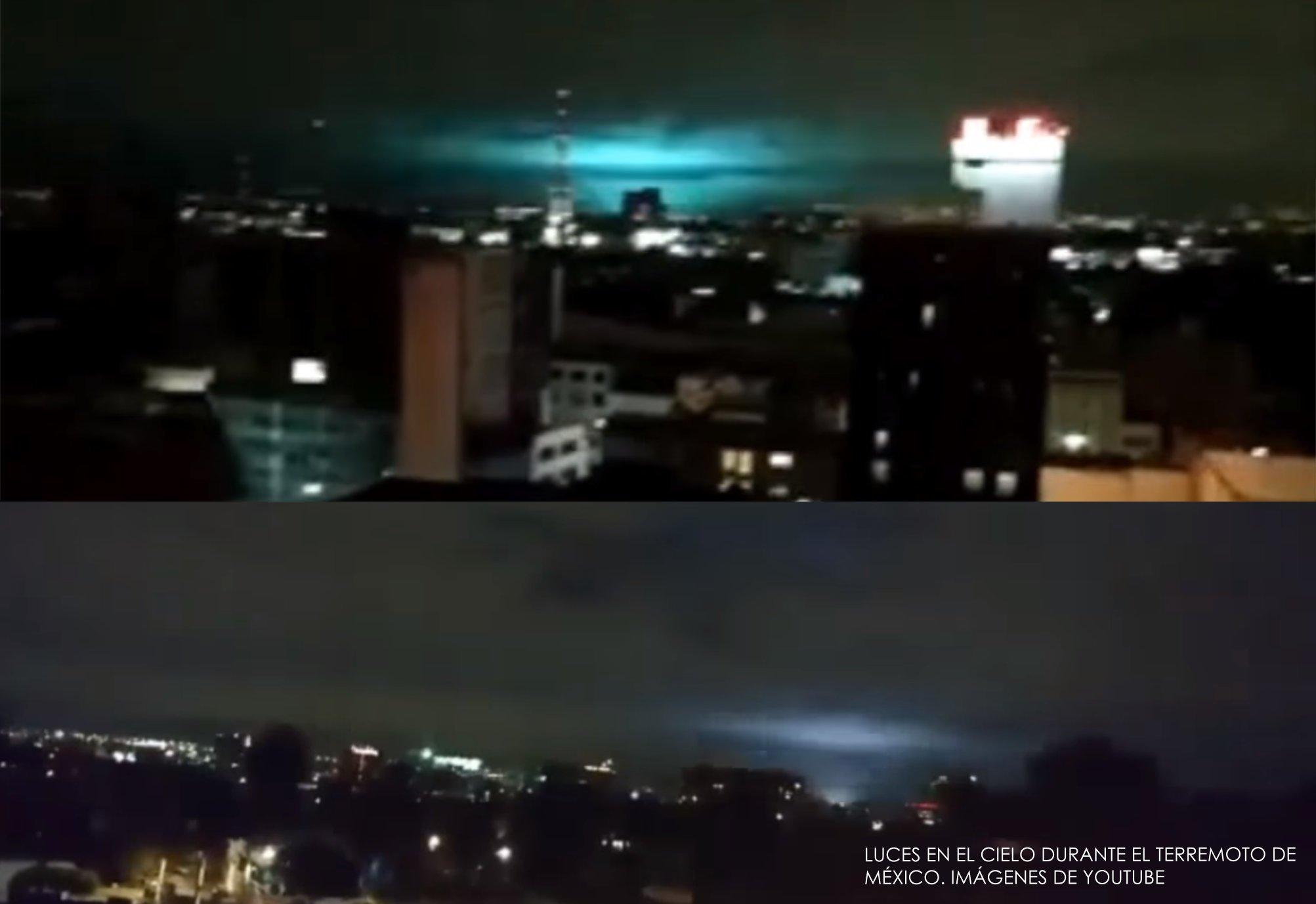 Qué son las Luces en el cielo vistas durante el terremoto de México 1