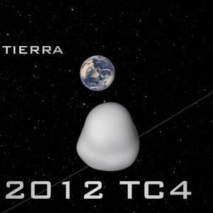 El Asteroide 2012 TC4 pasó esta mañana cerca de la Tierra