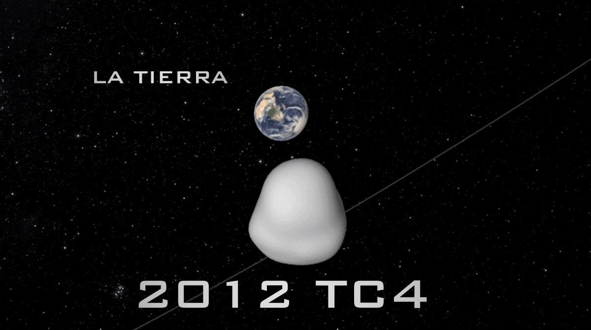 El Asteroide 2012 TC4 pasó esta mañana cerca de la Tierra 2