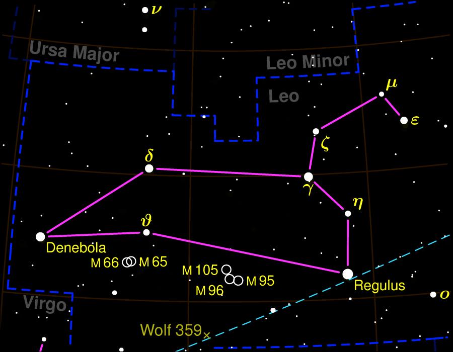 Leo Constellation Map Negative 900x700, Planeta Incógnito