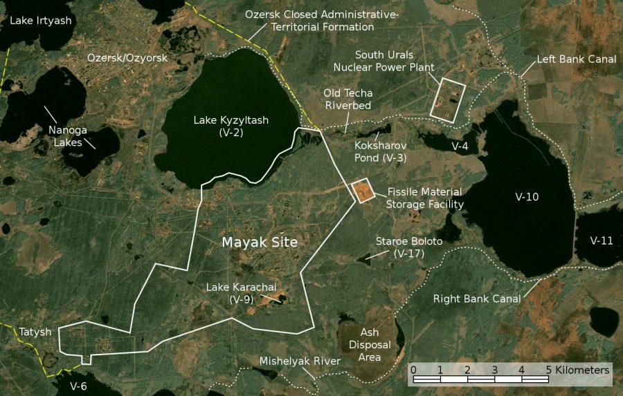 Satellite Image Map Of Mayak 900x573, Planeta Incógnito