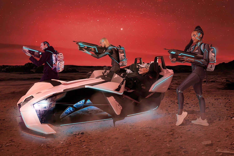 Fotomontaje para fomentar la línea Misión a Marte creada por SprayGround