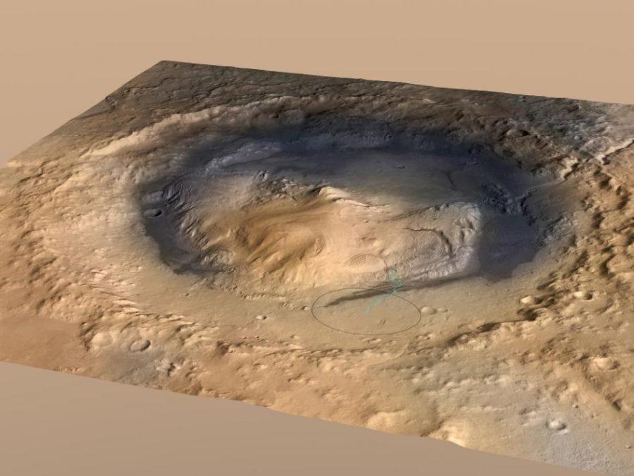 cráter Gale, monte Sharp en su centro