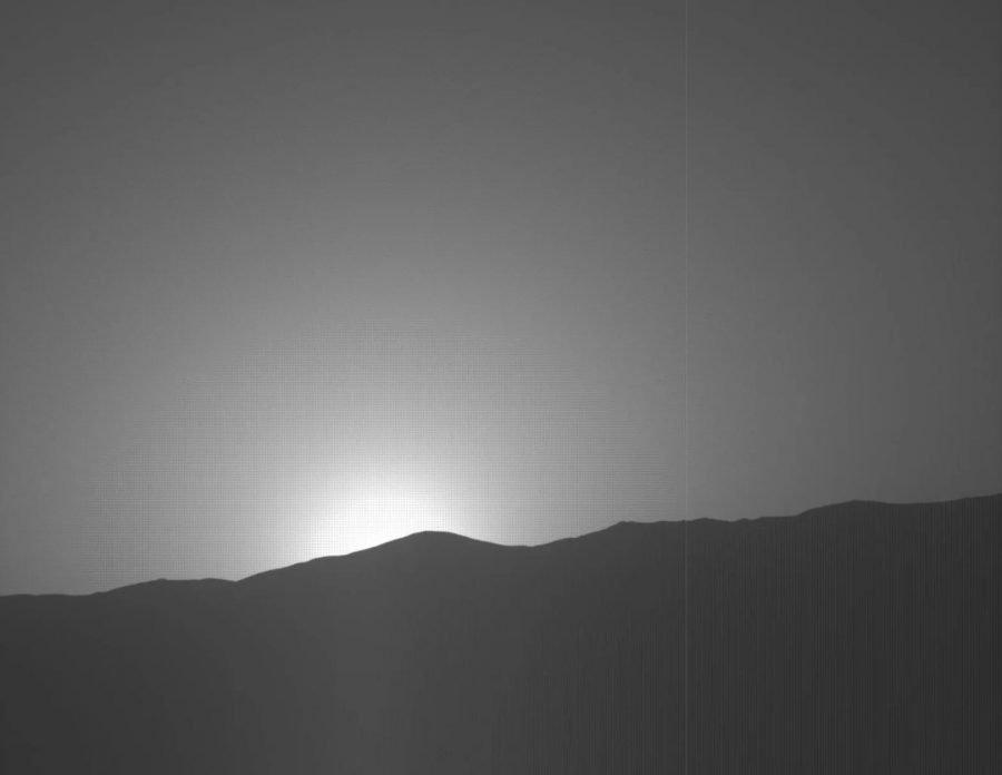 Nueva puesta de Sol de Marte, cortesía de la sonda Curiosity 1