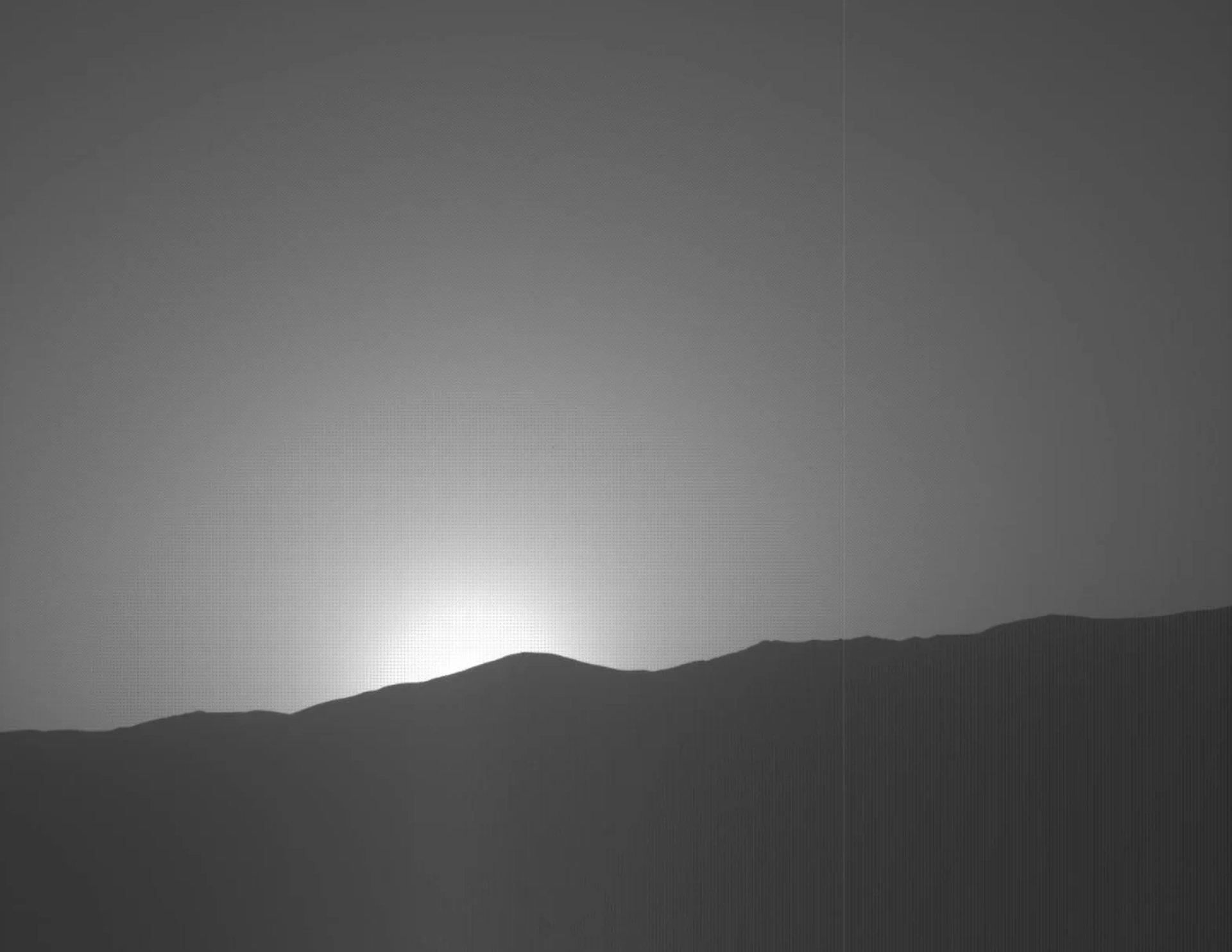 Nueva puesta de Sol de Marte, cortesía de la sonda Curiosity