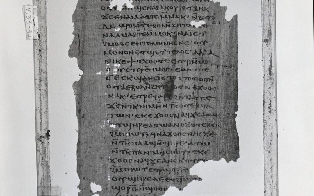 Un texto de las enseñanzas de Jesús descubierto en un basurero egipcio