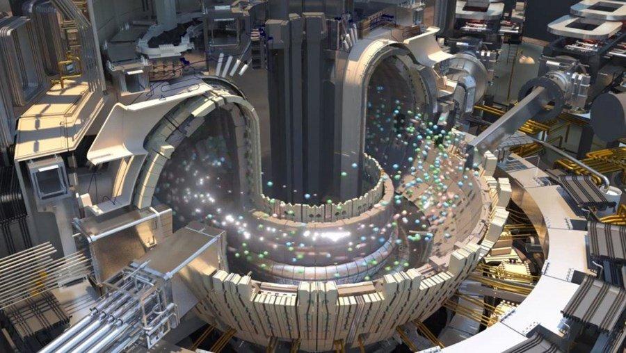 Futura imagen artística de como se trataran los núcleos para realizar la fusión en el ITER