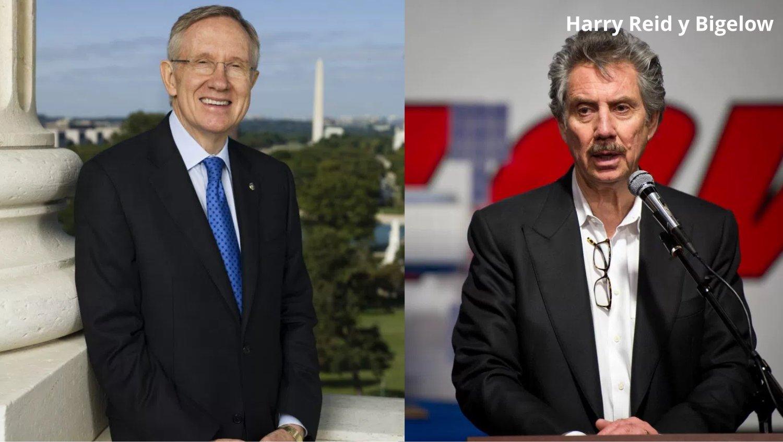 Fotografías del Ex-senador Harry Reid y su amigo el multimillonario hotelero Robert Bigelow