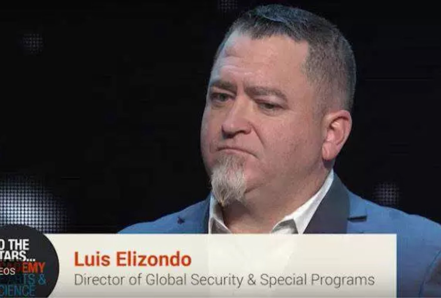 El Sr. Luis Elizondo, ex-director del AATIP en el Pentágono y actual director de Seguridad Global y Programas Especiales del proyecto To the Stars Academy
