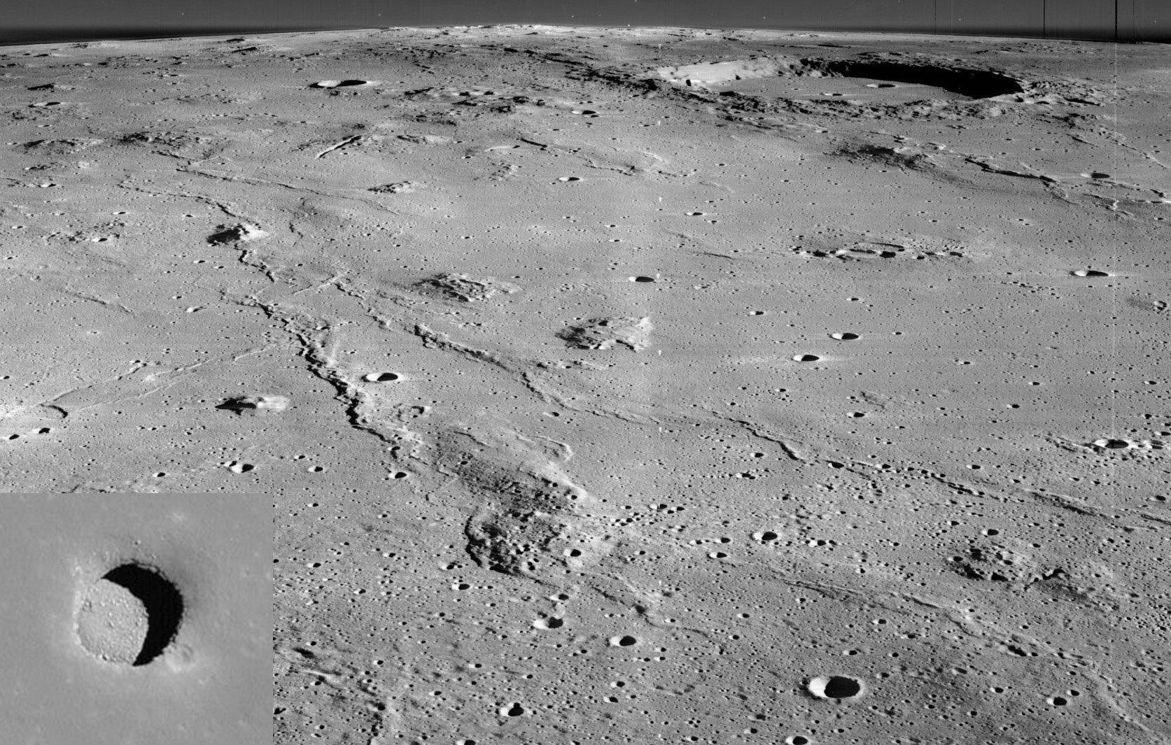 Fotografía de las colinas Marius con sus posibles oquedades