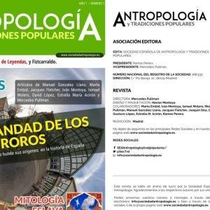 Publicada la primera revista de la Sociedad Española de Antropología y Tradiciones Populares