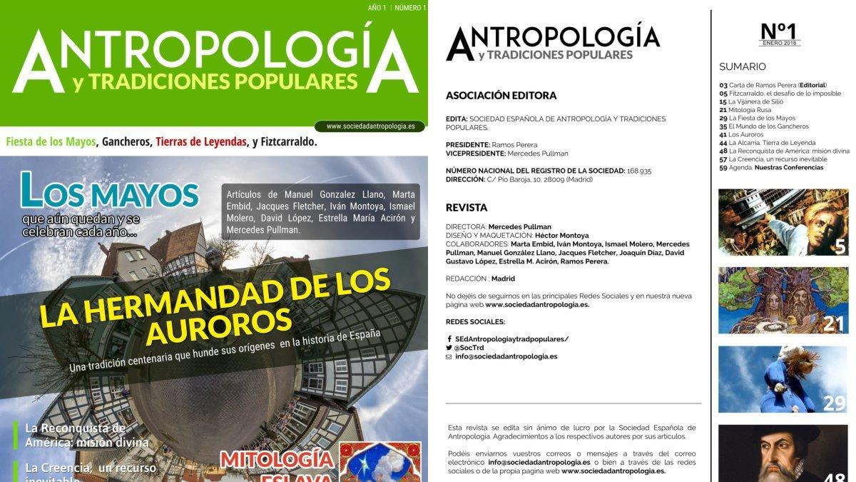 Enlace al primer número de la revista de la Sociedad Española de Antropología y Tradiciones Populares