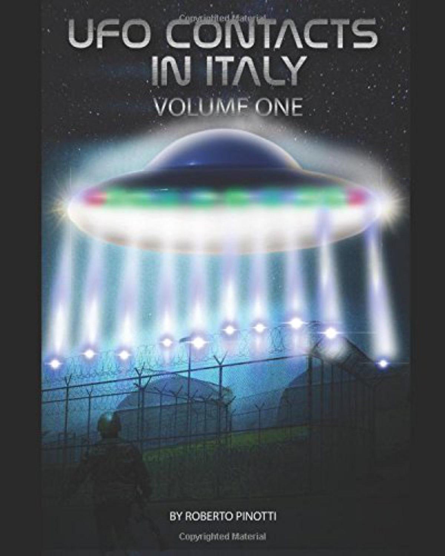 Portada del libro UFO CONTACTS IN ITALY https://flyingdiskpress.blogspot.co.uk/