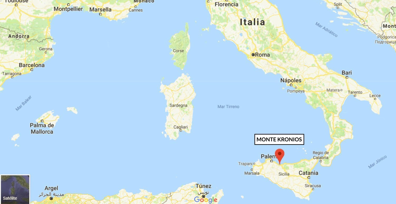 Localización del Monte Kronios