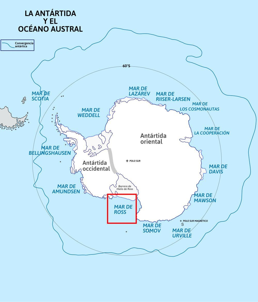 Mar de Ross Antártida