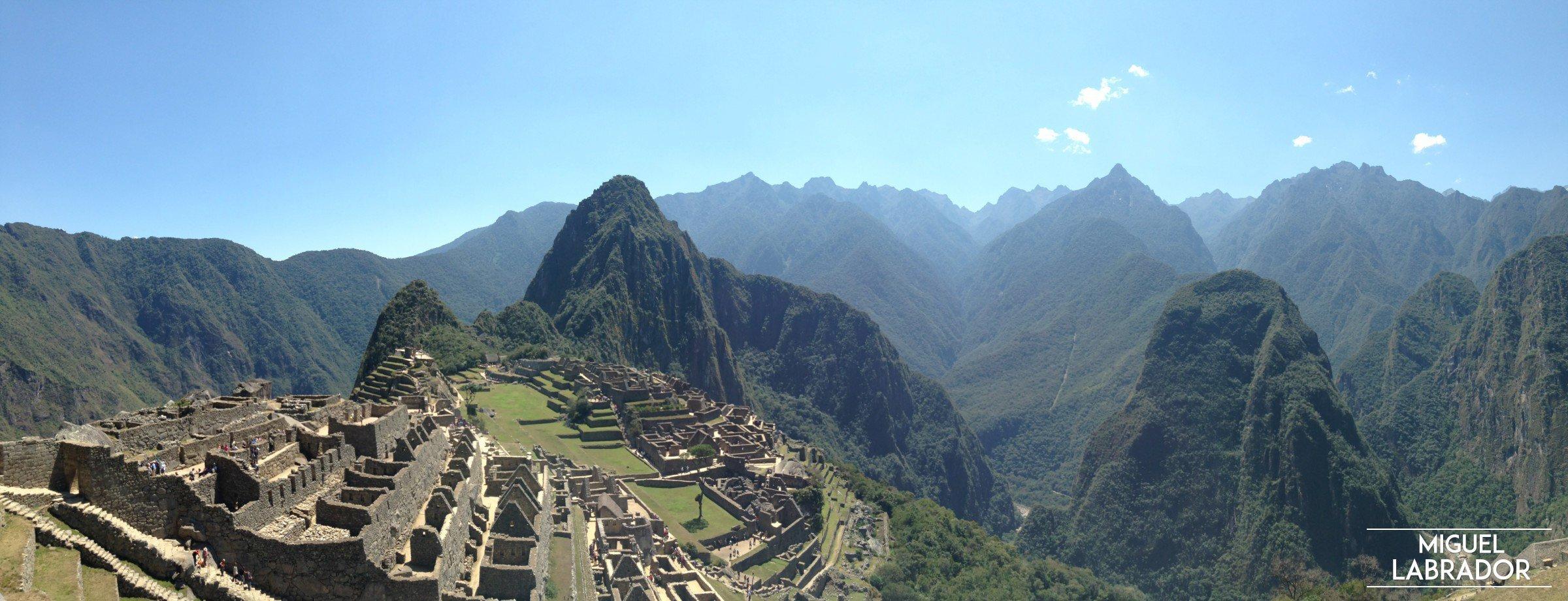 Panorámica Machu Picchu, foto de Miguel Labrador