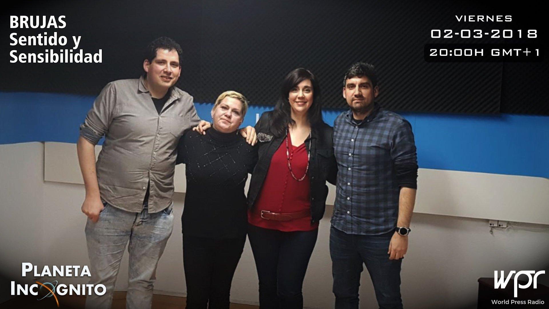 Episodio Brujas Sentido y sensibilidad, de izquierda a derecha Héctor Montoya, Mercedes Pullman, Cristina Menéndez e Iván Montoya