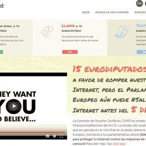 Wikipedia está en peligro!. Ayúdala enviando tu mensaje a un eurodiputado. No al artículo 13
